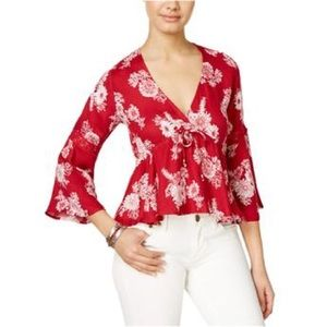 American Rag Hi-Low Knit Blouse